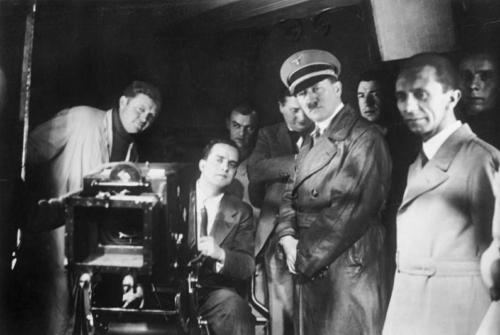 4. jaan. 1935 Hitler ja Goebbels Babelsbergi filmistuudios