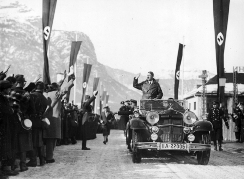 6. veebr. 1936 Hitler saabub Garmisch-Partenkirchenisse taliolümpia avamisele