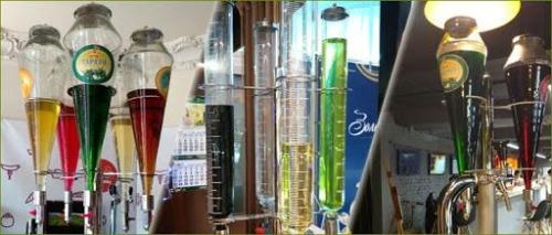 Gaseeritud vett sai osta ka poest. Müüja laasi sortsu soovitud siirupit klaasi ja gaseeritud vett peale.