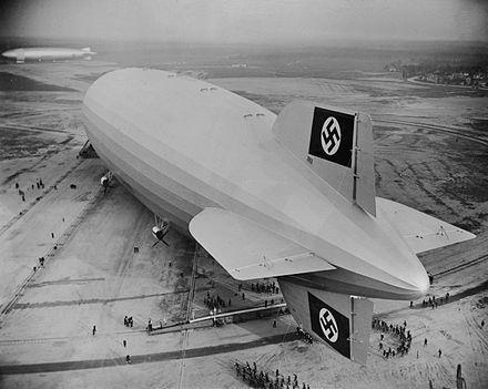 LZ-129 esimene maandumine Lakehursti lennuväljale 1936