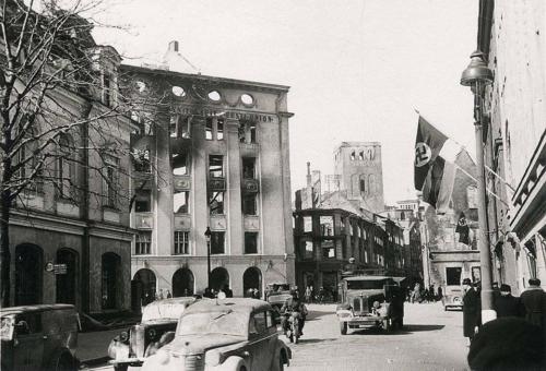 Suur-Karja tänav 1944 pärast märtsipommitamist