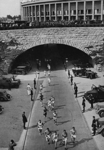 Värav, mille kaudu maratonijooksjad alustasid ja lõpetasid jooksu.
