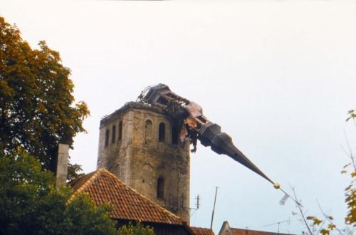 Niguliste kirik pärast tulekahju 14. septembril 1982