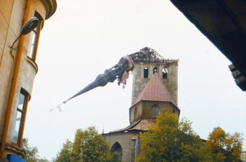 Niguliste kirik pärast tulekahju 13. okt. 1982 (pildistatud 14. okt)