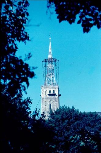 Niguliste kiriku torni taastamine pärast tulekahju