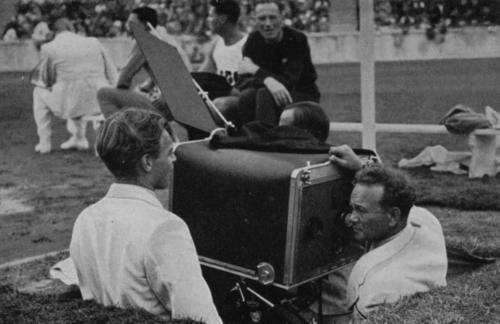 Leni Riefenstahli operaatorid tööhoos.